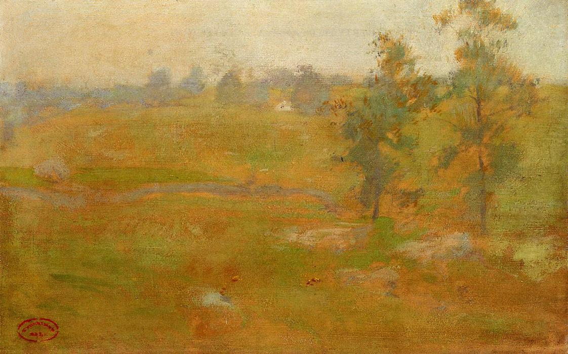 famous painting Summer Landscape of John Henry Twachtman