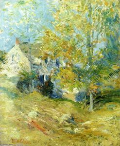 John Henry Twachtman - The Artist's House Through The Trees (Aka Autumn Afternoon)