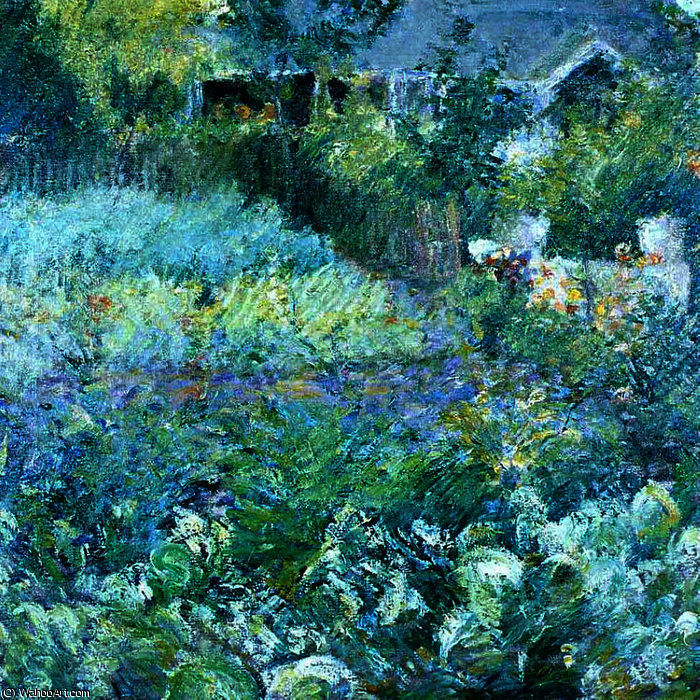 famous painting The Cabbage Patch of John Henry Twachtman