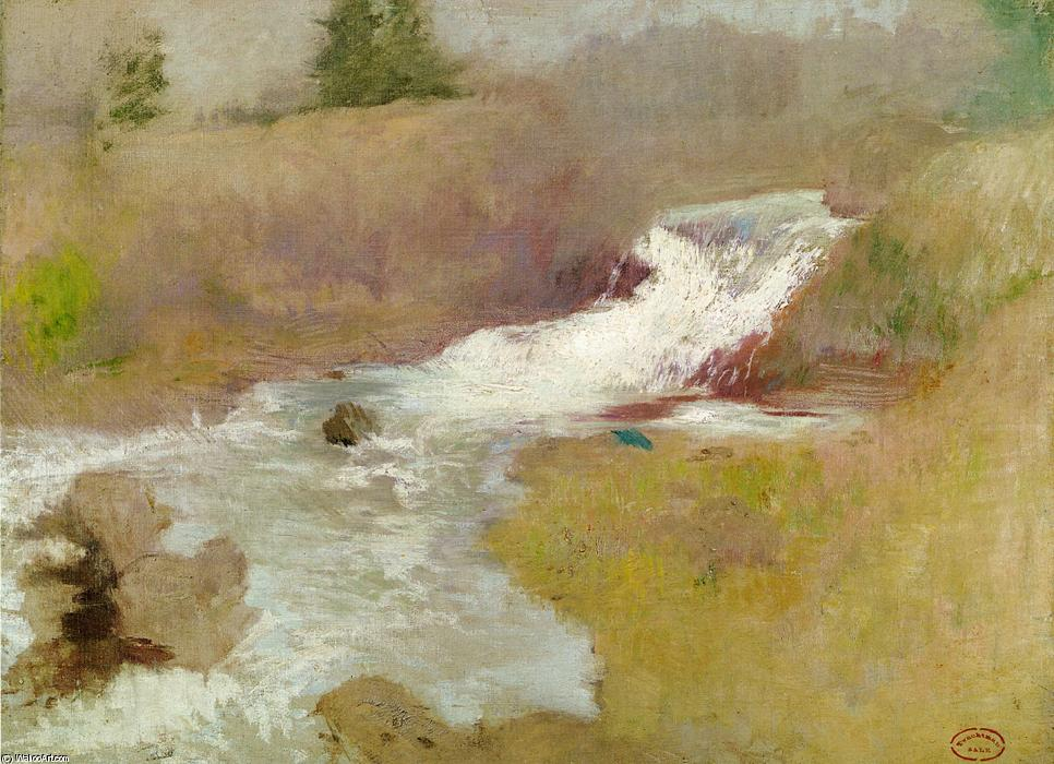 famous painting The Cascade in Spring of John Henry Twachtman