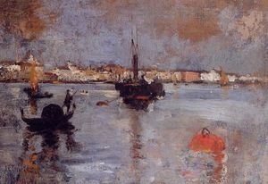 John Henry Twachtman - The Grand Canal, Venice