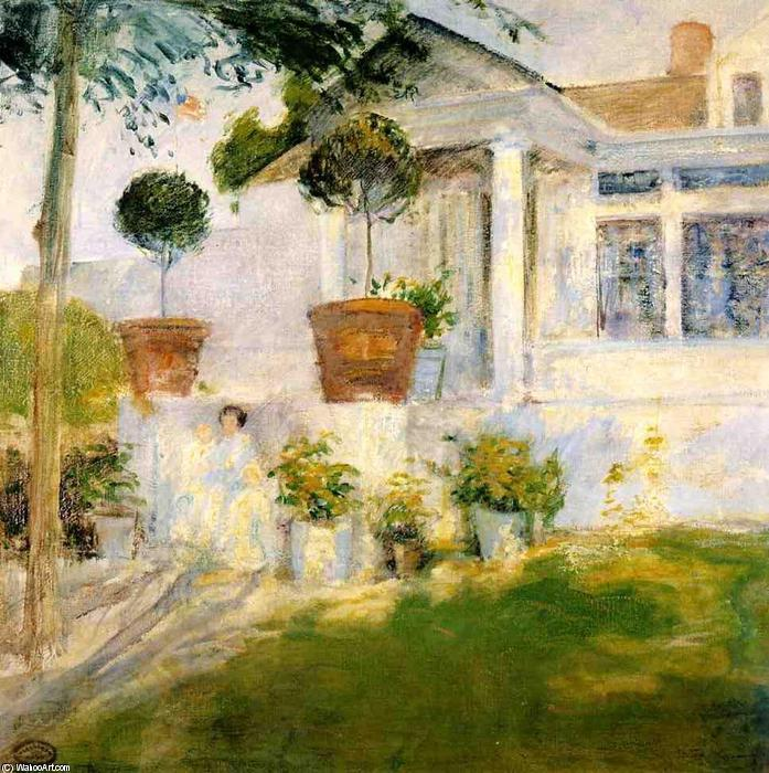 famous painting The Portico of John Henry Twachtman
