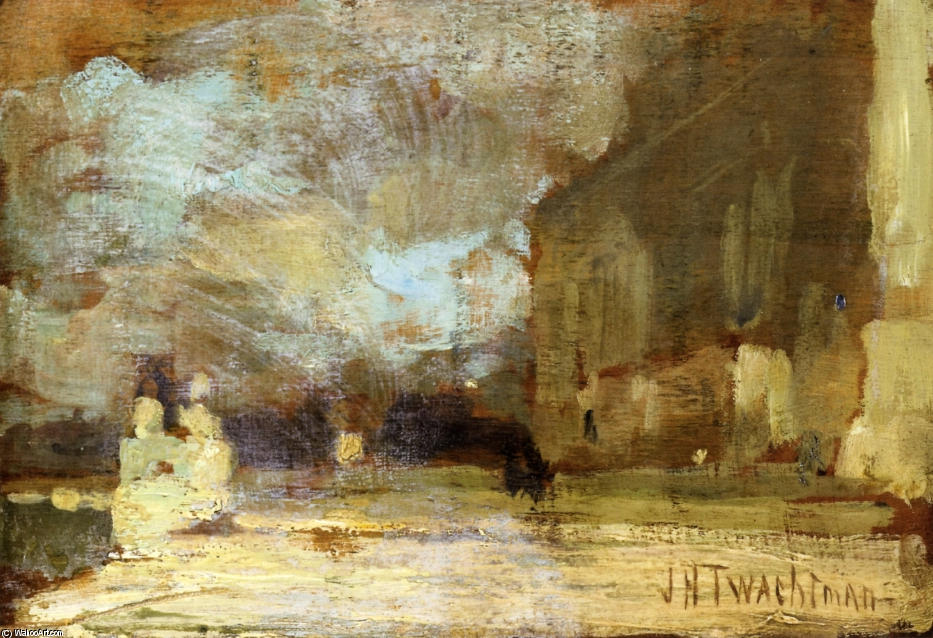 famous painting The Quai, Venice of John Henry Twachtman