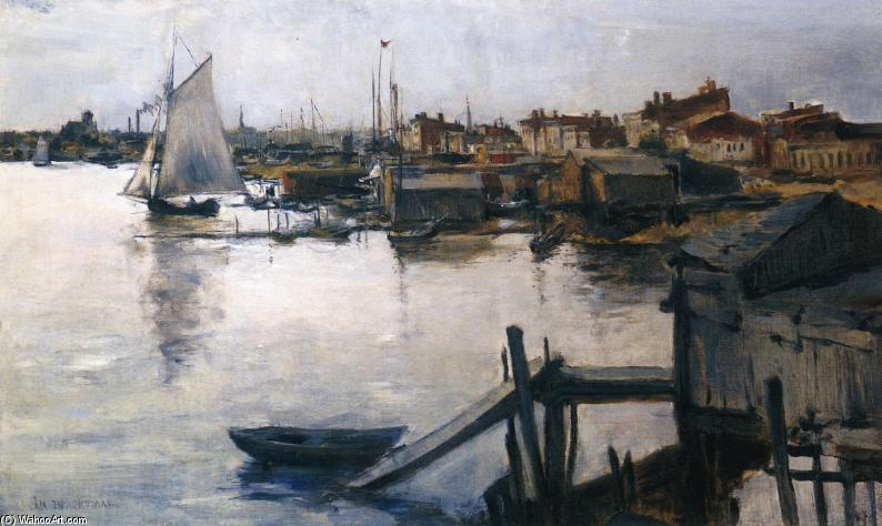 famous painting The Shore of John Henry Twachtman