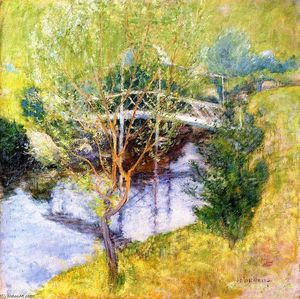 John Henry Twachtman - The White Bridge 1