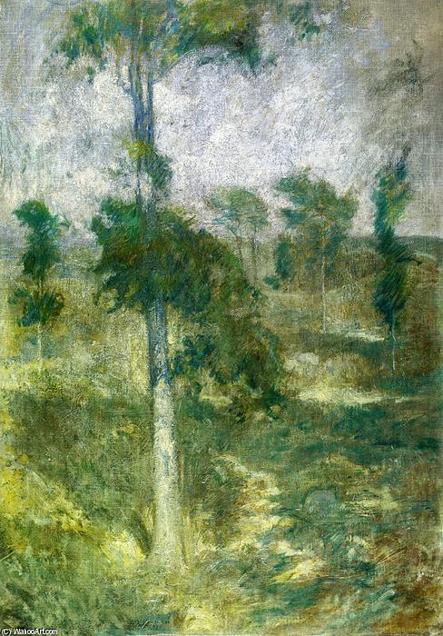 famous painting Tulip Tree, Greenwich of John Henry Twachtman