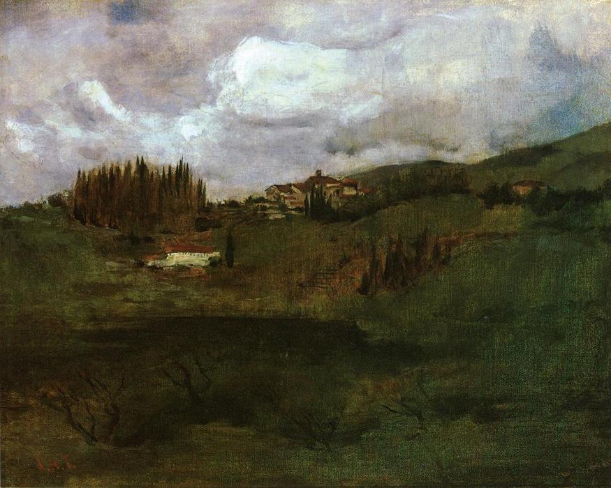 famous painting Tuscan Landscape of John Henry Twachtman