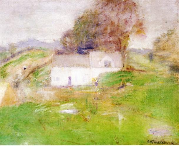 famous painting Twachtman's House of John Henry Twachtman