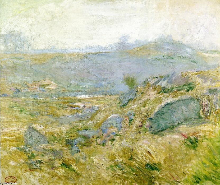 famous painting Upland Pastures of John Henry Twachtman