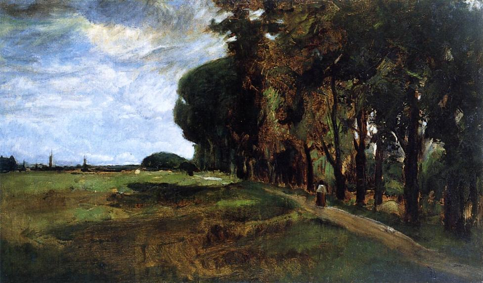 famous painting View near Polling of John Henry Twachtman