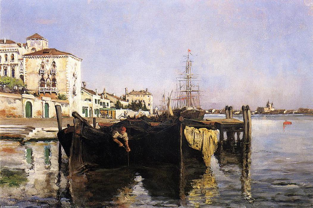 famous painting View of Venice of John Henry Twachtman
