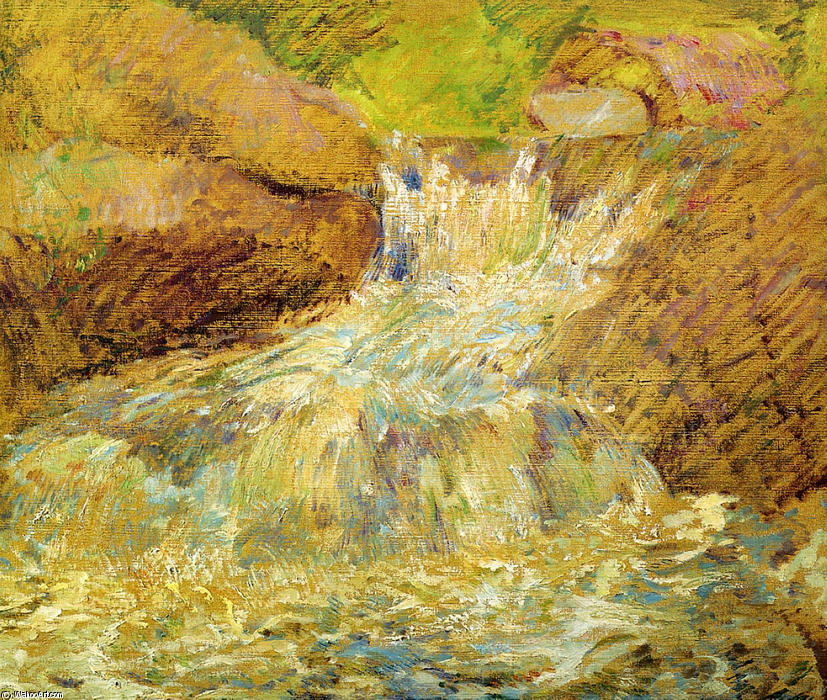 famous painting Waterfall, Greenwich of John Henry Twachtman
