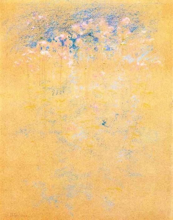 famous painting Weeds and Flowers of John Henry Twachtman