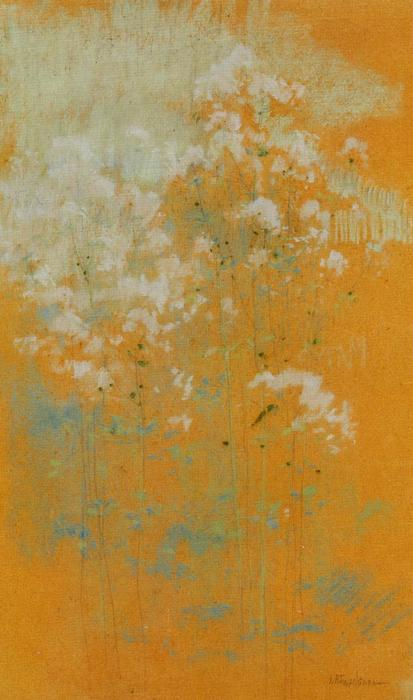 famous painting Wild Flowers of John Henry Twachtman