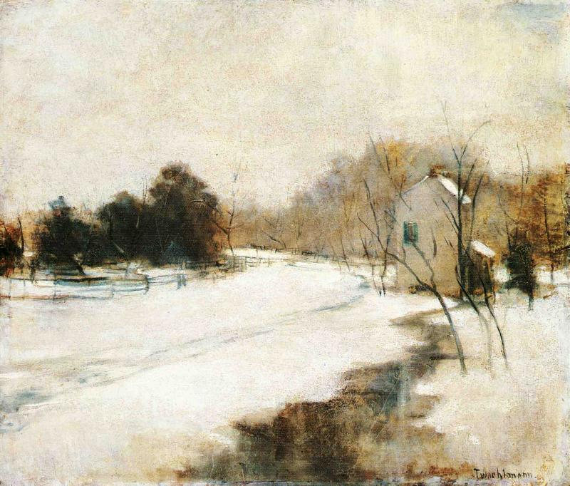 famous painting Winter in Cincinnati of John Henry Twachtman