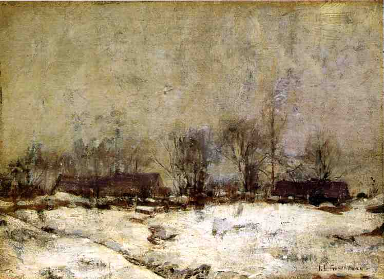 famous painting Winter Landscape, Cincinnati of John Henry Twachtman