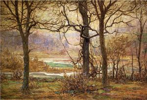 John Ottis Adams - Autumn on the Whitewater