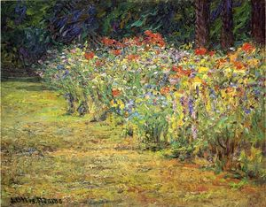 John Ottis Adams - Flower Border