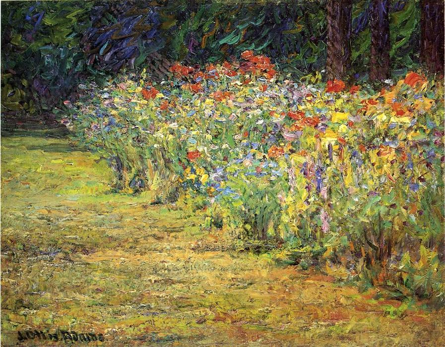 famous painting Flower Border of John Ottis Adams