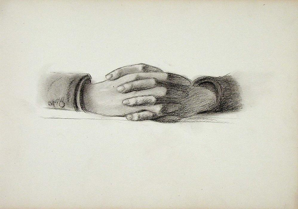 famous painting Folded Hands of John Ottis Adams