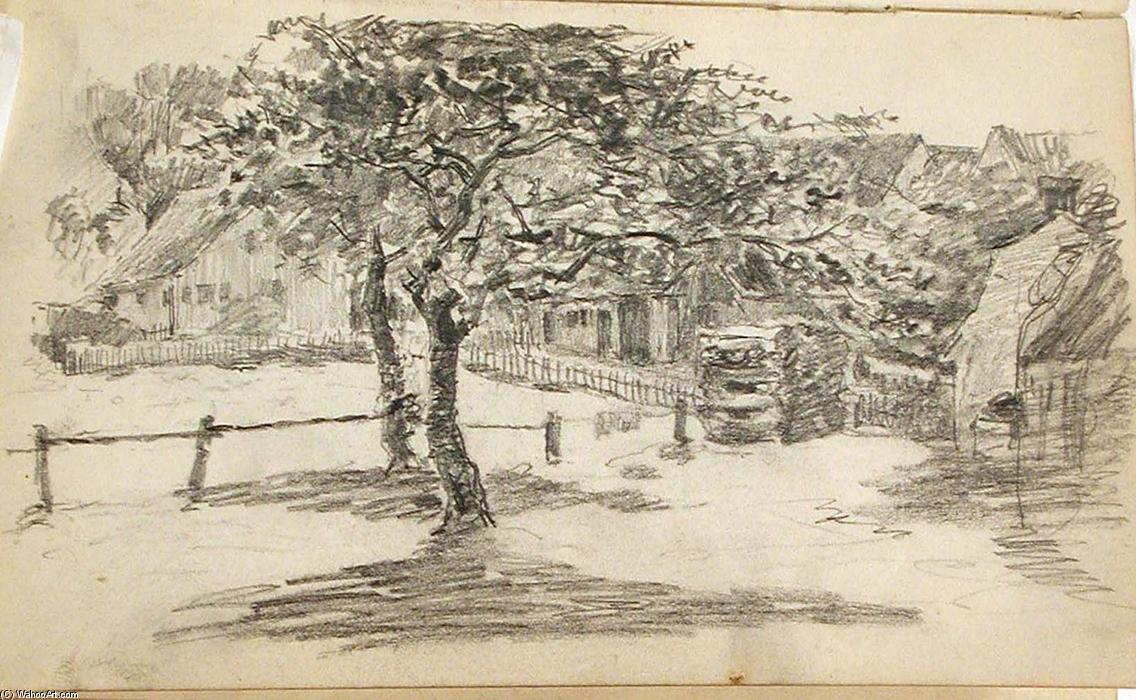 famous painting Houses and Trees of John Ottis Adams