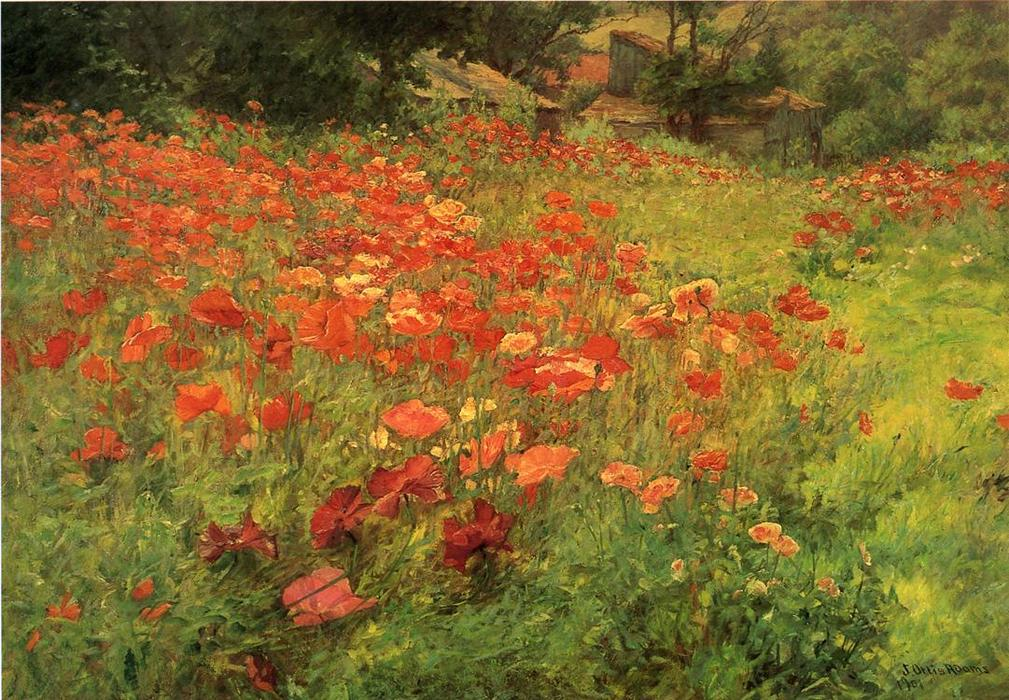 famous painting In Poppyland of John Ottis Adams