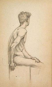 John Ottis Adams - Male Academy Figure