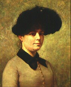 John Ottis Adams - Portrait of Mary Ethell Gertrude Walker