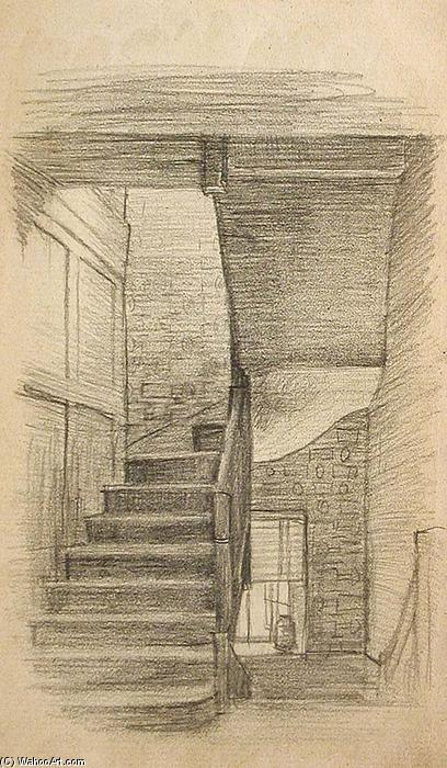 famous painting Stairway of John Ottis Adams