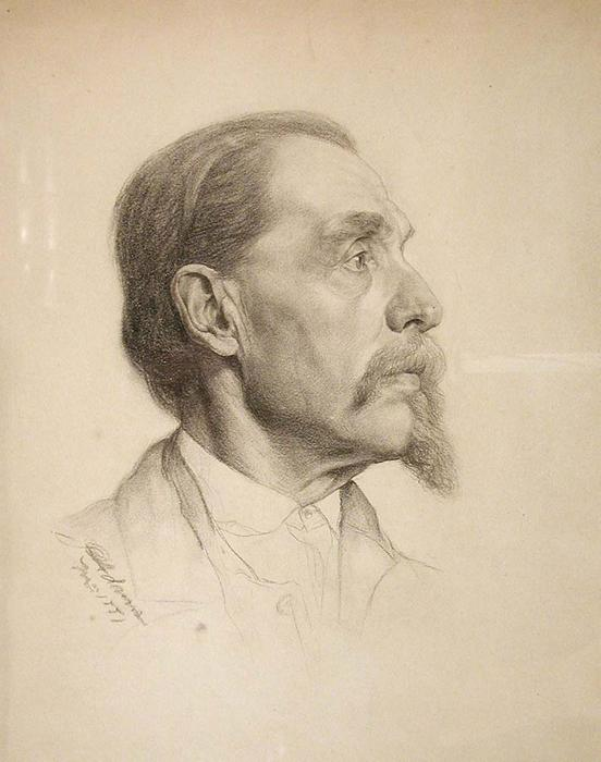 famous painting STUDY HEAD (MAN WITH GOATEE) of John Ottis Adams