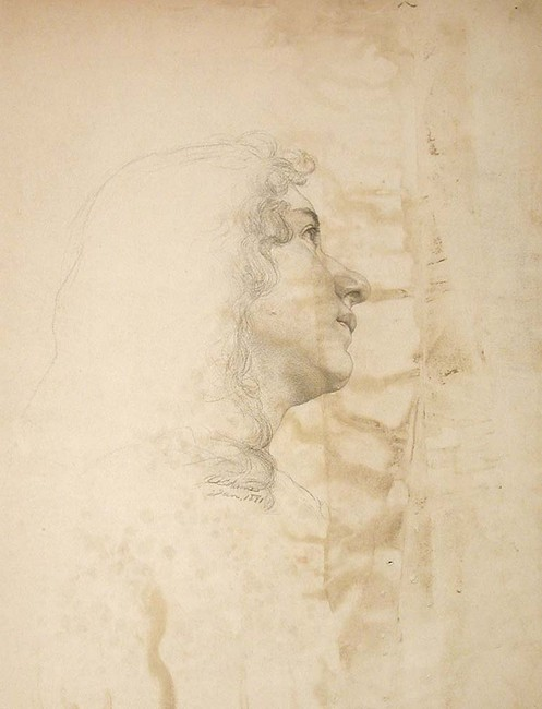 famous painting Study of a Young Woman in Profile of John Ottis Adams