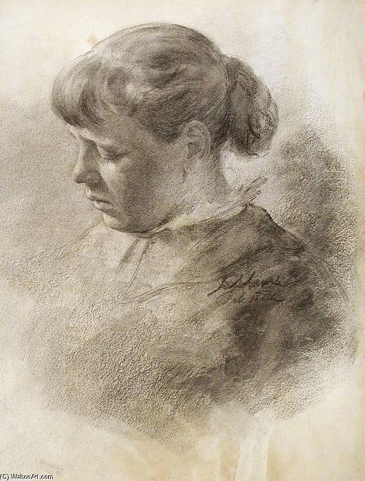 famous painting Study of a Head of John Ottis Adams
