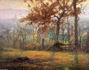 John Ottis Adams - The Old Mills of Brookville