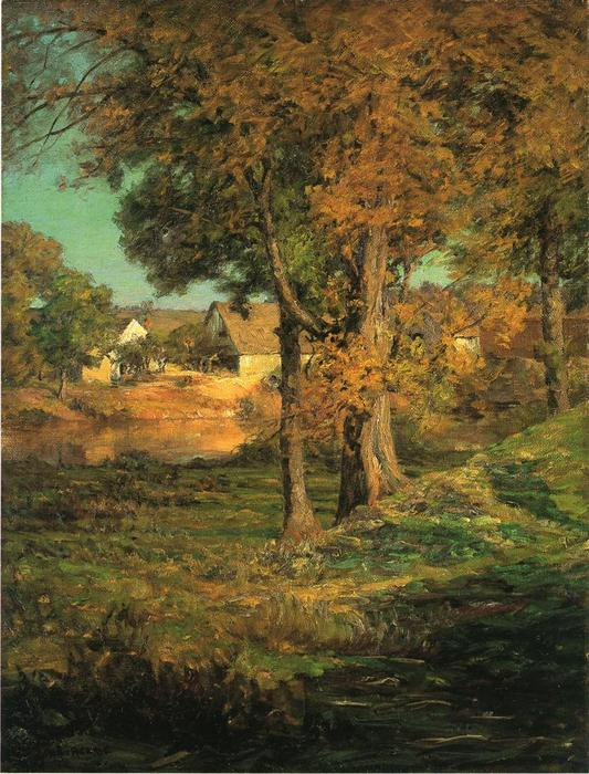 famous painting Thornberry's Pasture Brooklyn, Indiana of John Ottis Adams
