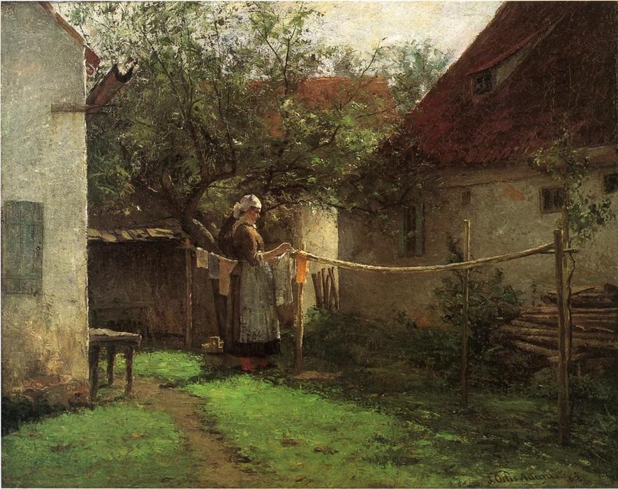 famous painting Wash Day, Bavaria of John Ottis Adams
