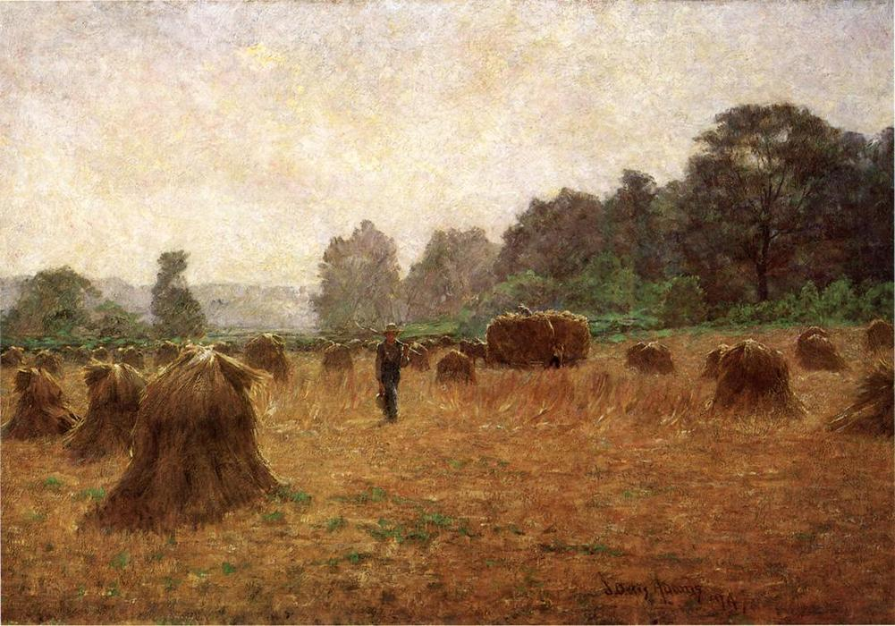 famous painting Wheat-wain Afield of John Ottis Adams