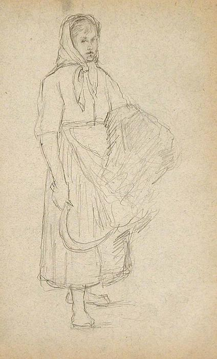 famous painting Woman Carrying Sythe of John Ottis Adams