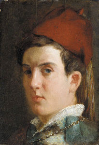 Julian Alden Weir - A Youth (Self-Portrait)