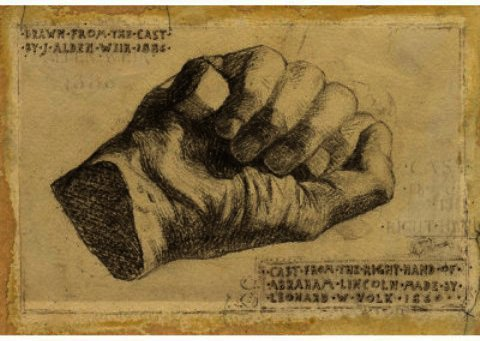 famous painting Abraham Lincoln's Hand of Julian Alden Weir
