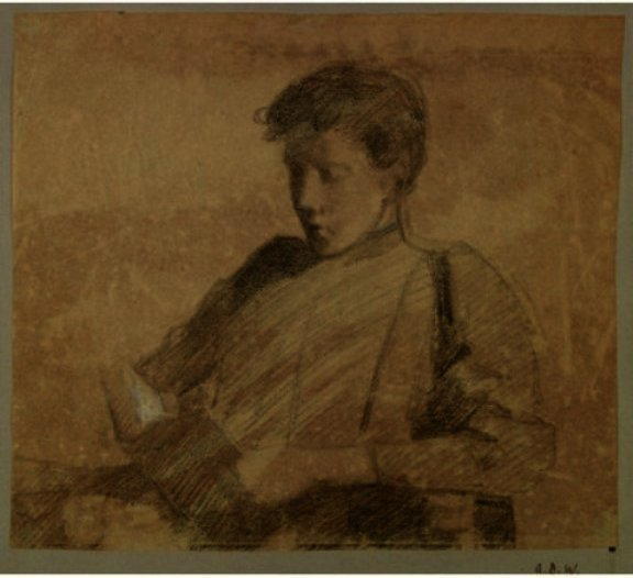 famous painting Anna Reading of Julian Alden Weir