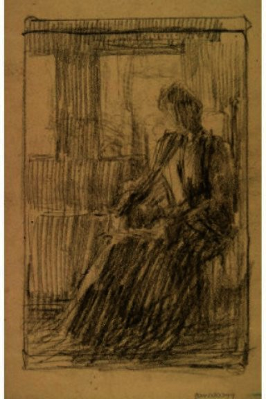 famous painting Anna Weir By The Windows of Julian Alden Weir