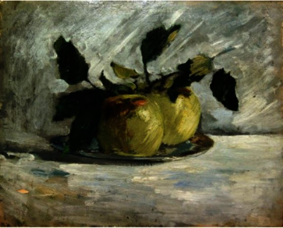 famous painting Apples On A Plate of Julian Alden Weir