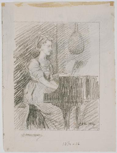 famous painting At the Piano 1 of Julian Alden Weir