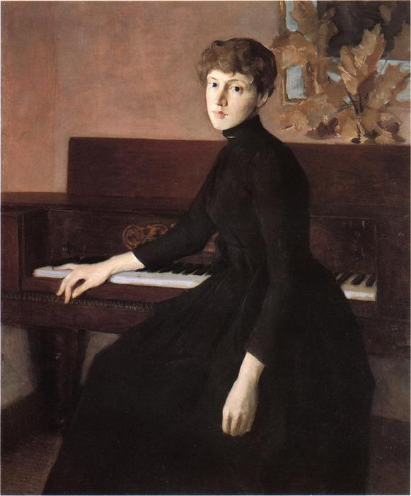 famous painting At the Piano of Julian Alden Weir