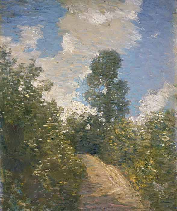 famous painting Back Road of Julian Alden Weir