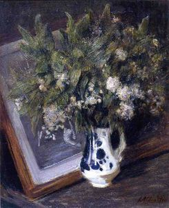 Julian Alden Weir - Flowers in a Delft Jug