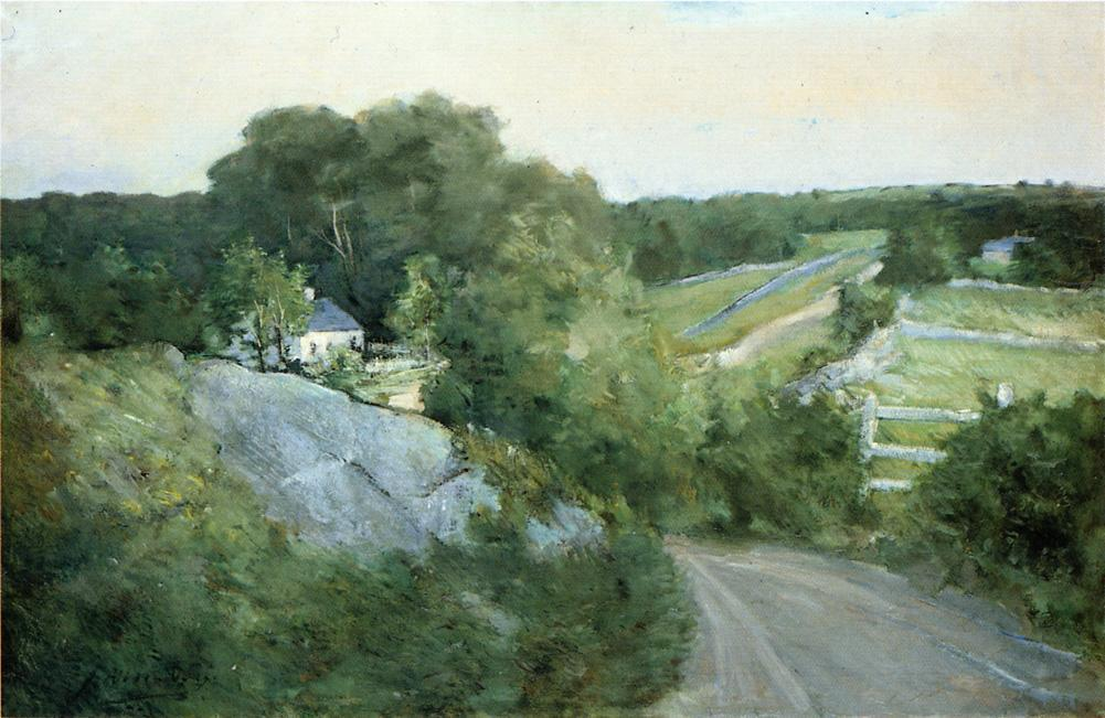 famous painting Green Hills and Farmland of Julian Alden Weir