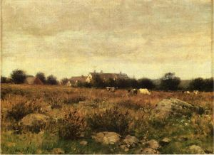 Julian Alden Weir - Houses in Pasture