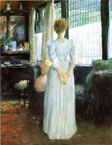 Julian Alden Weir - In the Livingroom