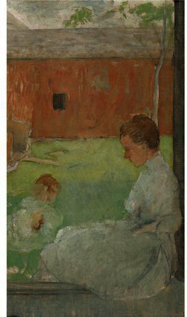 famous painting MOTHER AND CHILD 2 of Julian Alden Weir